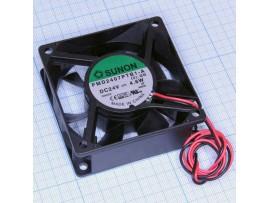 Вентилятор 24V/0,1A 70х70х25