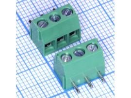 ED350R-03P клеммник 3к шаг 3,5мм на плату