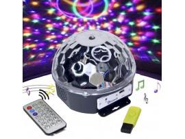 Лампа RGB/MP3  DiscoDoom с пду для световых шоу
