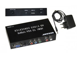 HDMI в YPbPr + VGA + S/PDIF + Stereo конвертор REXANT