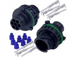 AMP 1-967447 разъем 7-pin штекер с кожухом