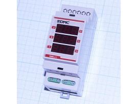 Вольтметр VMM.3.1R красный 3-х фазн. цифровой на DIN