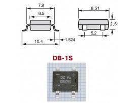 DB105S (600V/1A) Диодный мост