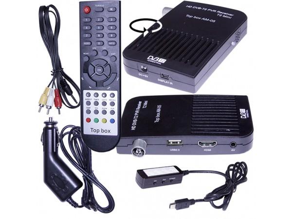 Top box AM-05 ресивер эфирный DVB-T2 (авто)