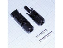 MC4 разъем на кабель гн. + шт. герметичный