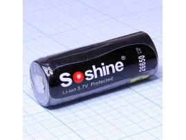 Аккумулятор 3,7V/5500 mAh (d=26;L=65) с защитой Soshine