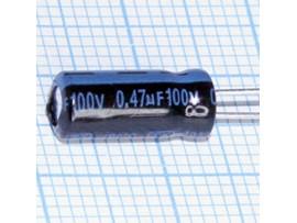 Конд.0,47/100V 0511 +105°C