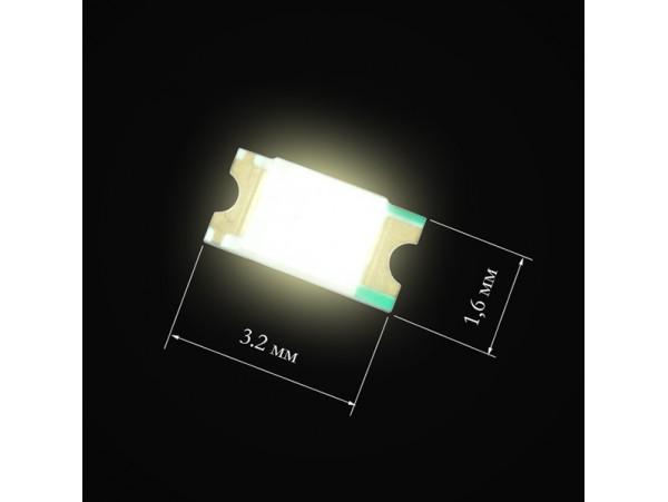 LED 1206 CHIP White 2.8v 550 mcd 3.2X1.6 MM