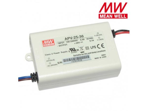 БП LED 36V 0-0,7A APV-25-36