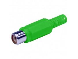 RCA Гнездо на кабель зеленое