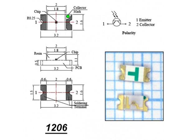 LED CHIP 1206 DFL-1206BC синий