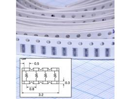CAY16-330J4LF рез. сборка  4х33 Ом чип