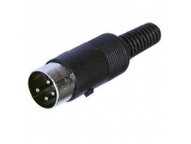 7-0251 4p DIN4 вилка на кабель