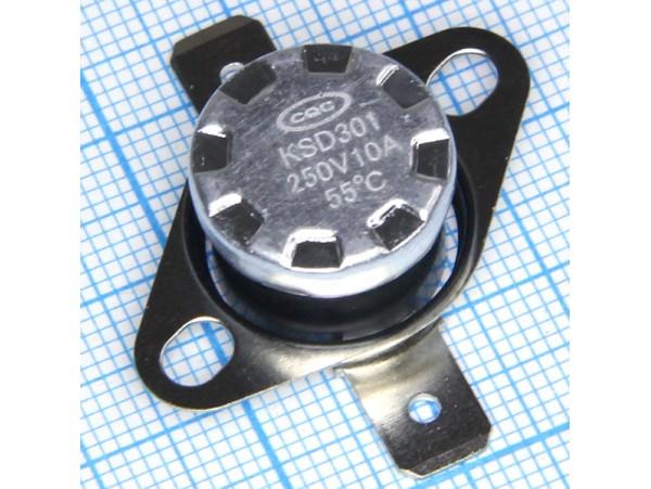 KSD-301-055С 250V10A термостат нормально замкнутый