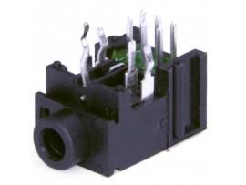 Гнездо 3,5 на плату CKX3-3.5-02A с выключ.