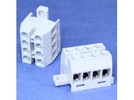 KR8041 клеммный блок 4конт. 6 мм.кв.