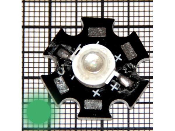 LED 1WR 3.4v 50-80LM 520-525nm G зел. 1W