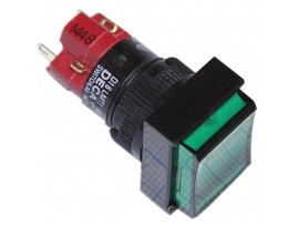 D16LMT1-1ABJG 250V/5A on-(off)/off-(on) зеленая кнопка