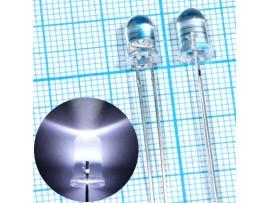 LED 5RWWWC белый d=5мм 22000 mcd 3,4V