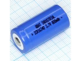 Аккумулятор 3,7V/700 mAh RCR-123 (d=16;L=34) Soshine