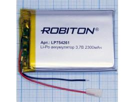 Аккумулятор 3,7V/2300 LP754261