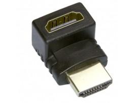 HDMI F/M-R (HAP-017) перех. шт. HDMI > гн. HDMI угловой