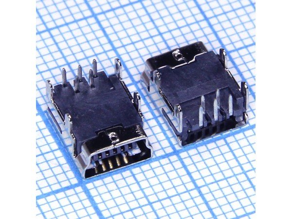Mini USB 5 pin 5FD2A Гн. на плату