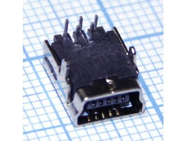 Mini USB 5 pin 5FD2 Гн. на плату