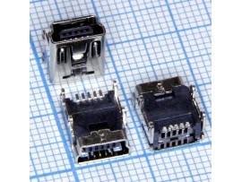 Mini USB 5 pin 5SD1P Гн. на плату