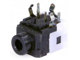 Гнездо 3,5 на плату CKX3-3.5-08 с выключ.