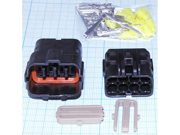 DJ7081-1.5-21/DJ7081-1.5-11 разъем шт+гн гермет. 8 pin