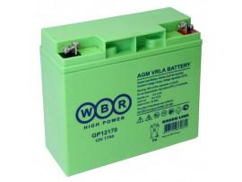 Аккумулятор 12V/17Ah GP12170 (167х181х76мм)