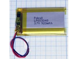 LP603048 Аккумулятор 3.7V 920mAh  Li-POL
