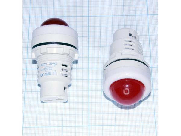 AD22-30AS-W 220VAC лампа LED красная