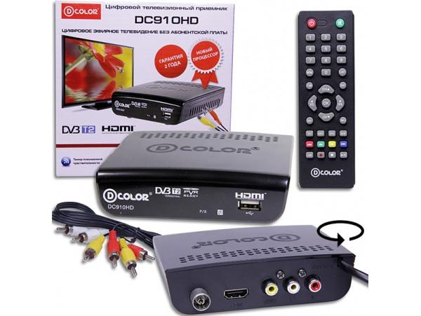 D-COLOR DC910HD ресивер эфирный DVB-T2,HD