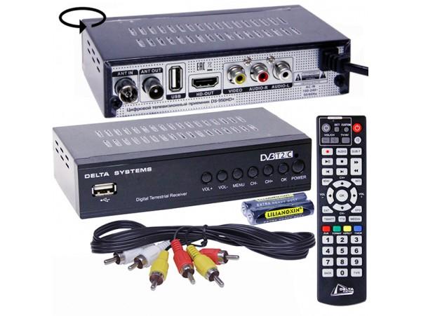 Delta DS-950HD+ ресивер эфирный DVB-T2 обучаемый пульт