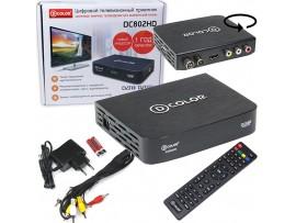 D-COLOR DC802HD ресивер эфирный DVB-T2,HD-С