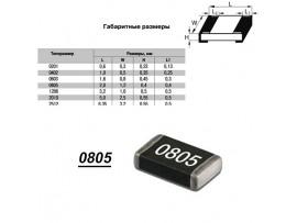 Чип рез.F0805-124К 1%