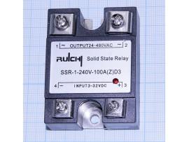 SSR-1 240V 100A(Z)D3 (3-32v) Реле твердотельное