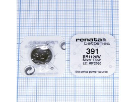 Элемент питания SR1120W Renata  R391 н/к