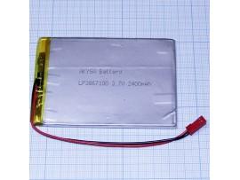 LP3867100-PCB-LD Аккумулятор 3,7V/2400mAh Li-Pol