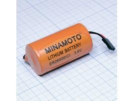 ER26500/C1 батарея 3,6V Lithium выводы + штекер