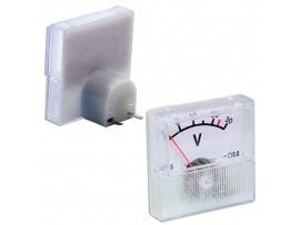 91C16 (0-30В) DC вольтметр 40х40