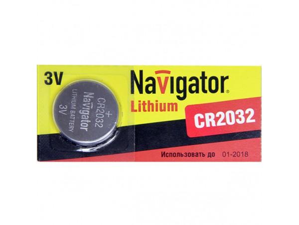 CR2032 Батарея 3V Navigator (без выводов)