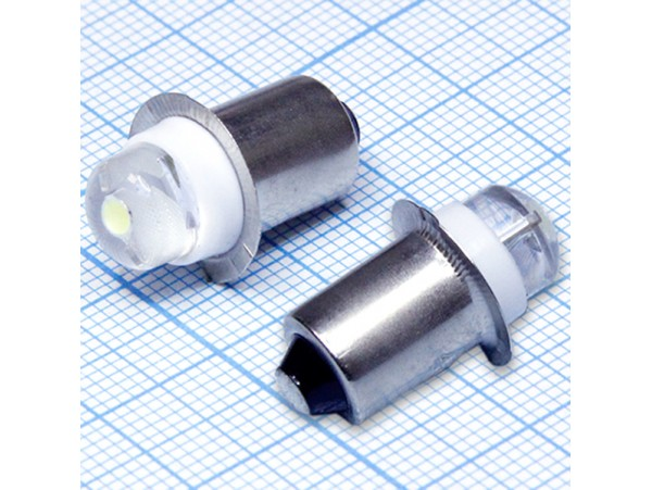 Лампа 4,5V LED цоколь P13,5 без резьбы