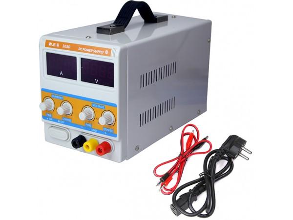 YX-305D (WEP 305D) источник питания 0....30V/0...5A