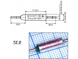 TZ D-121-15A Термопредохранитель