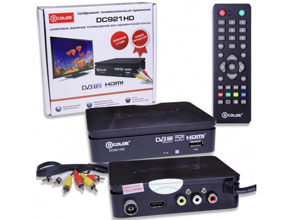 D-COLOR DC921HD ресивер эфирный DVB-T2,HD