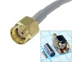 RP-SMA-C174P гнездо на кабель, обжим