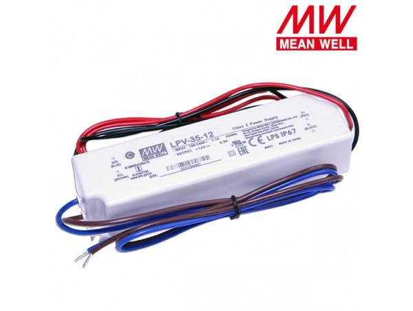 БП LED 12V 3A LPV-35-12